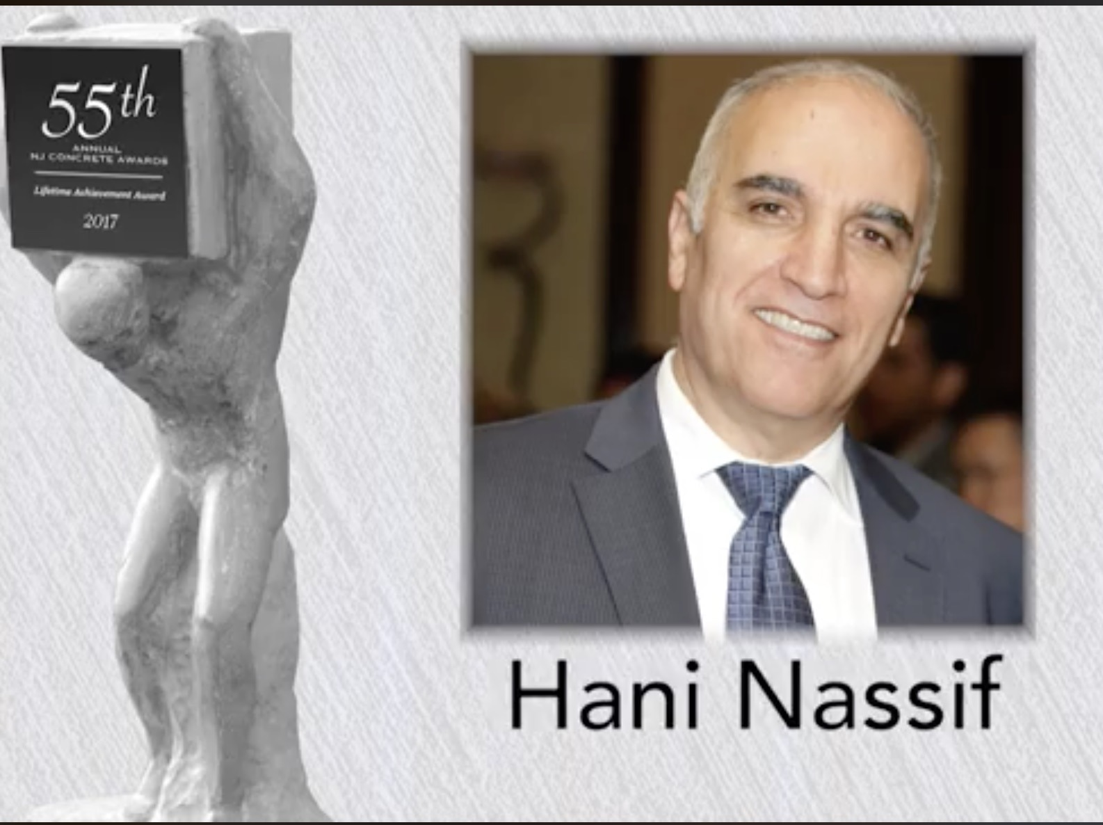 Hani Nassif lifetime achievement award