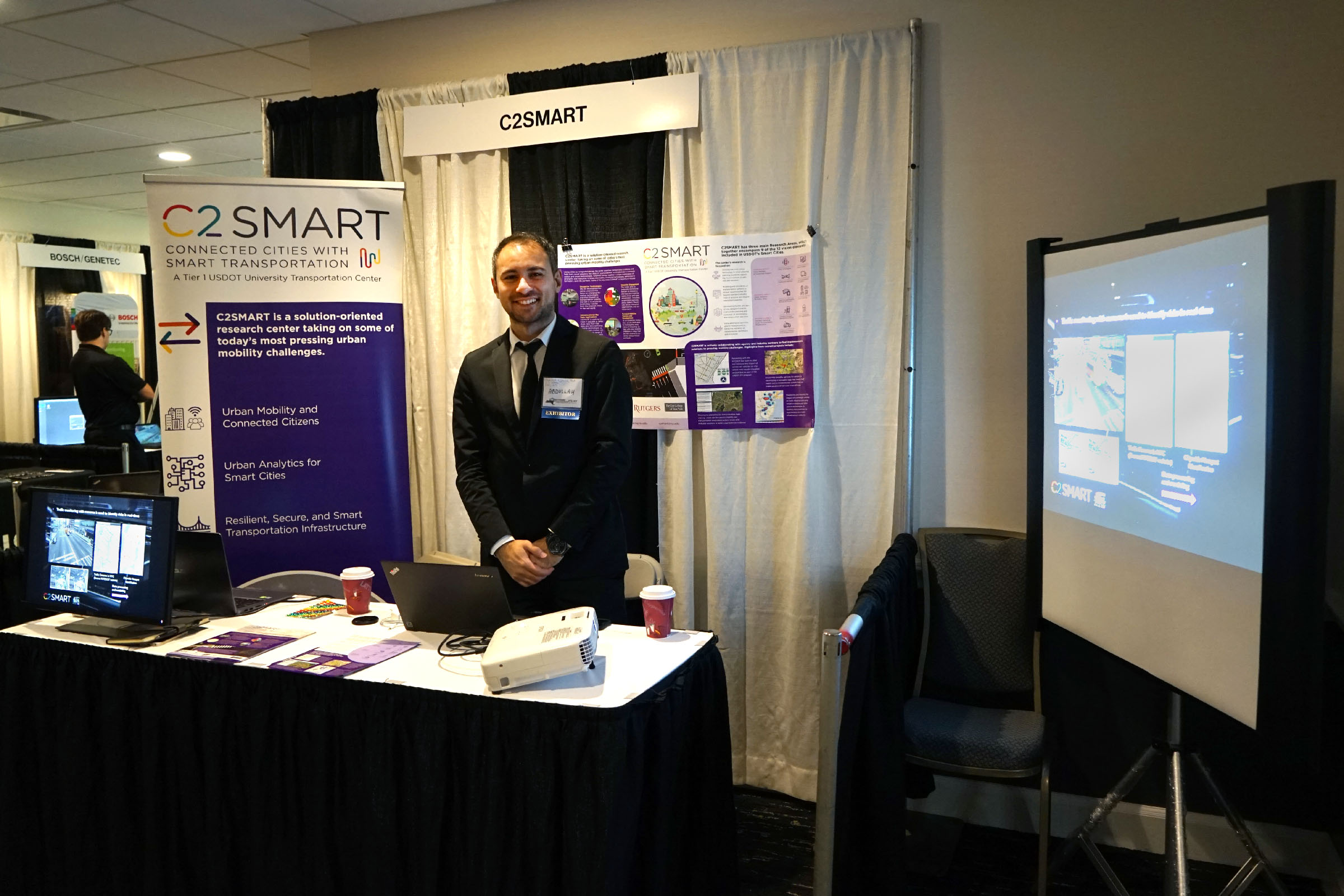 C2SMART booth at ITS NY