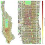 Visualization of pedestrian density in Manhattan