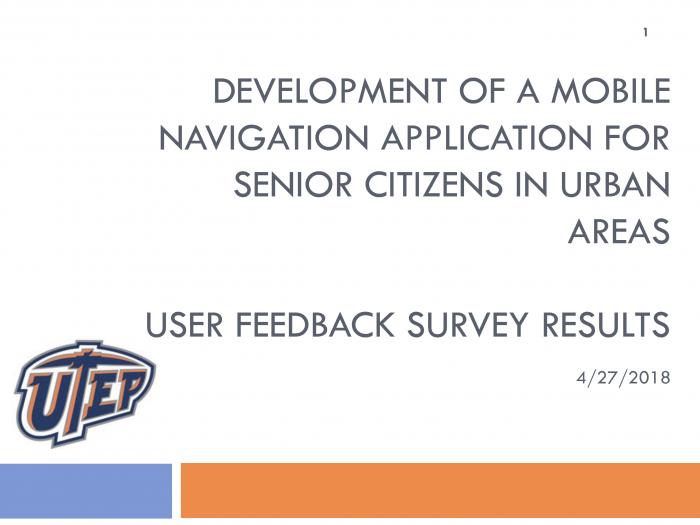 User Feedback Survey Results - UTEP Urban Connector Beta Test